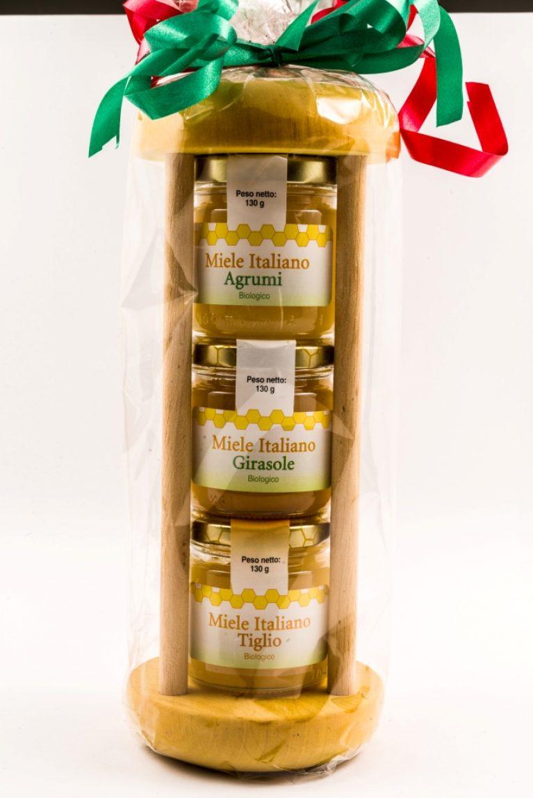Una confezione regalo clessidra a base di miele
