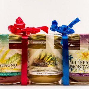 Tris Mieli grande. Una confezione regalo a base di miele per cerimonie e aziende.