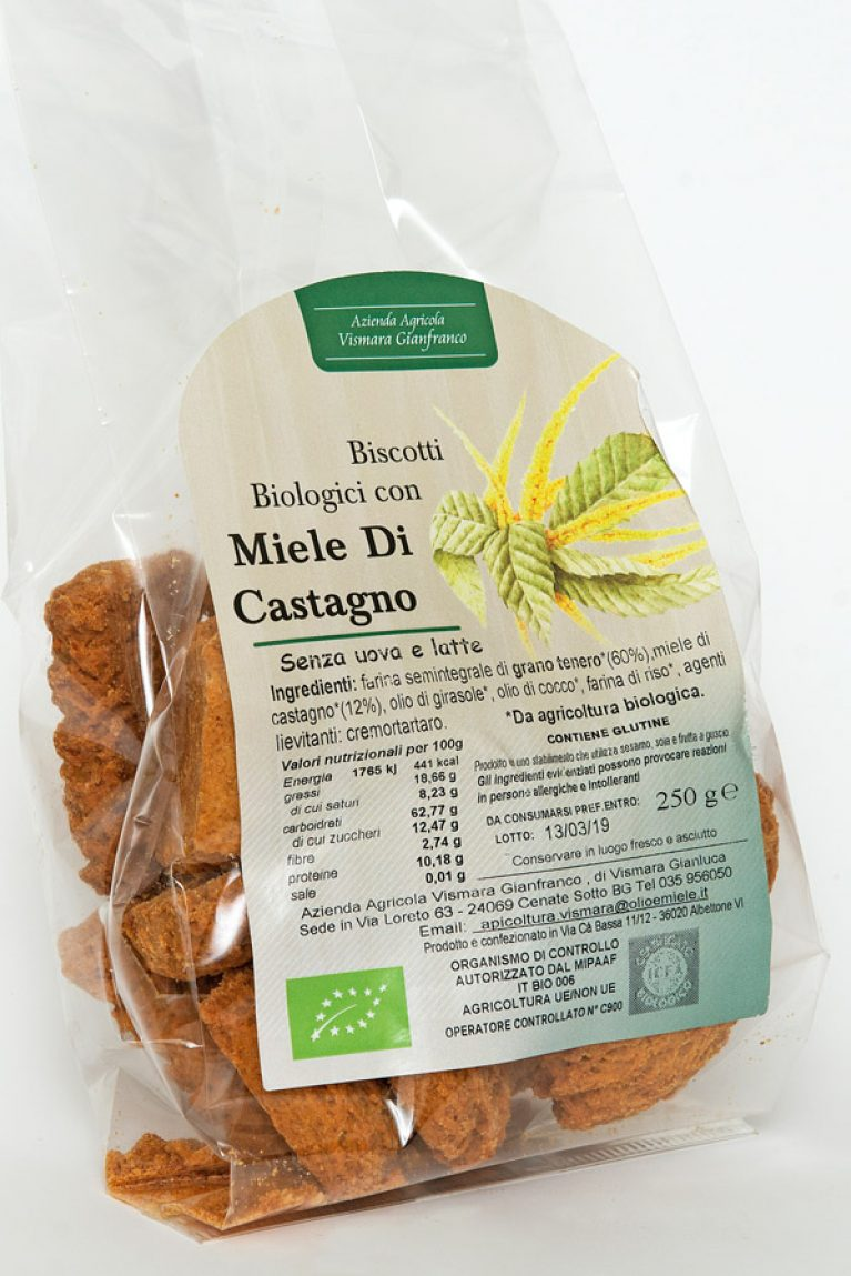 Biscotti bio al miele di castagno naturale: Produzione e Vendita dal produttore al consumatore