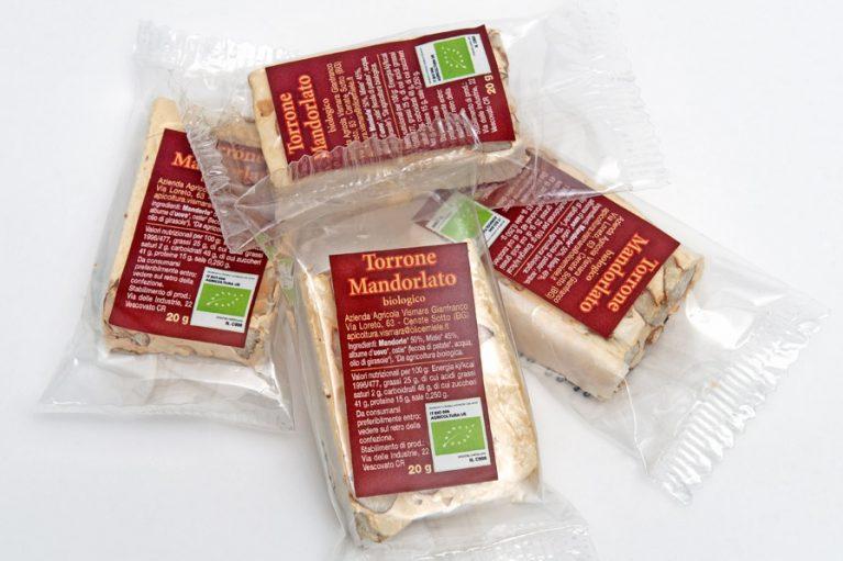 Torrone mandorlato al miele biologico: Produzione e Vendita dal produttore al consumatore