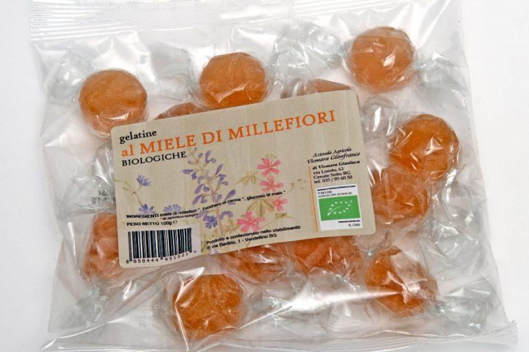 Caramelle biologiche gelatine al miele di millefiori gelées : Produzione e Vendita dal produttore al consumatore